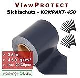 SICHTSCHUTZ VIEWPROTECT KOMPAKT - 450 │ Zaunfolie 35m x 19...