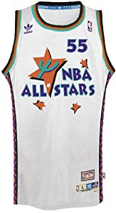 Dikembe Mutombo Adidas NBA Throwback 1995 All-Star West Swingman Jersey - White by adidas