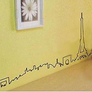Great Value Wall Decor Paris Scenery Pattern Graffiti Removable Wallpaper by Mzamzi