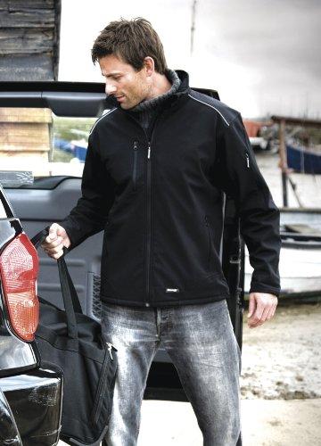 Mens Result Ripstop Soft Shell Jacket Medium Black/Black