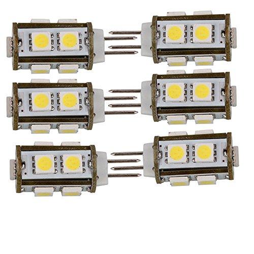 6Pcs Ultra Energy Saving 2W G4 9Led Corn Light Bulb, 150-200Lm