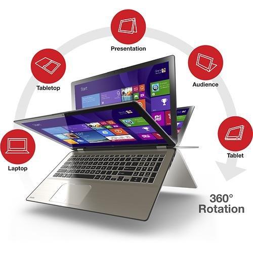 Toshiba 2-in-1 Convertible Memo pad UltraBook 15.6 Touchscreen Laptop - Intel Marrow i7 - 12GB DDR3L Ram Memory - 256GB SSD Solid Pomp Drive P55W-B5318