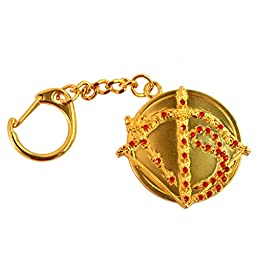 Amulet Medallion Keychain for Enthrallment(gold/red) W Fengshuisale Red String Bracelet W1610