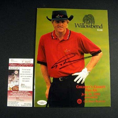 Greg Norman Signed Program June 1985 Auto - JSA Certified - Autographed Golf Magazines