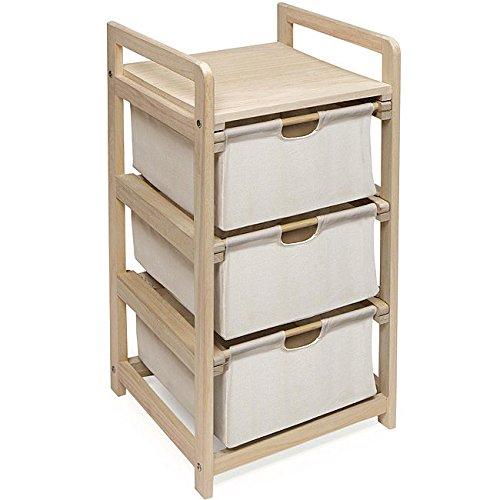 Storage Unit, Three Drawer Hamper (3 Drawer Hamper Storage Unit compare prices)