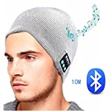 Stereo Bluetooth 4.2 Wireless Smart Beanie Headset Musical Knit Headphone Speaker Hat Speakerphone Cap Built-in Mic Microphone for Outdoor Sport