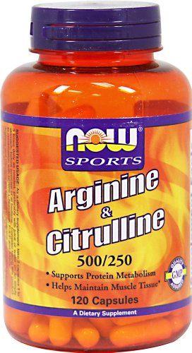 Now Foods L-Arginine 500Mg With Citrulline 250 Mg-120 Capsules