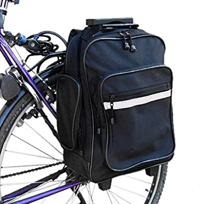 Pannier wheeled suitcase rucksack 3 in 1 by Relaxdays