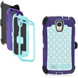 OtterBox Defender Series Graphics Case & Holster for Samsung Galaxy S4 (Harmony - Geometric Purple / Blue) - Non-Retail Packaging