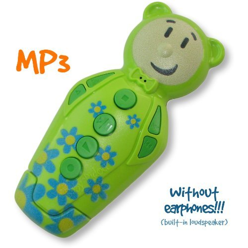 """Green """"Pop"""" Bidou 2Gb - Mp3 Player For Babies And Kids With Built-In Loudspeaker"""