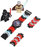 "LEGO Kids' ""9001192"" Star Wars Darth Vader vs. Obi-Wan Kenobi Multicolor-Plastic Bracelet Watch With Two Minifigures from LEGO"