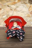 NFL San Francisco 49ers The Whole Caboodle 5PC set – Baby Car Seat Canopy with matching accessories