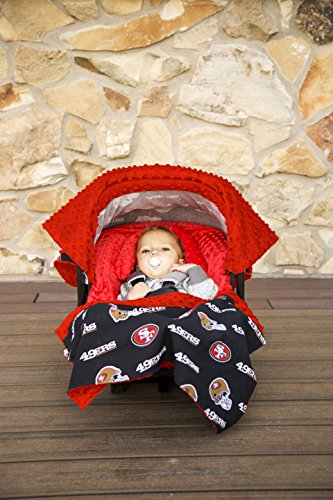 NFL San Francisco 49ers The Whole Caboodle 5PC set - Baby Car Seat Canopy with matching accessories
