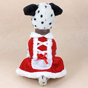 Christmas Dog Dress Cute Pet Costumes Pet Apparel for Small Dogs (S) from Colorfulhouse