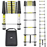 NEW 3.8M TELESCOPIC ALUMINIUM BUILDERS DIY STEP MULTI PURPOSE LADDER - EN131 WITH CARRY CASE BY NEO TM