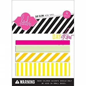 Heidi Swapp - Day Glow Collection - Washi Tape - Neon