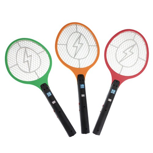 2X Rechargeable Electric Insect Fly Mosquito Bug Zapper Swatter Killer Racket (Eu Plug)