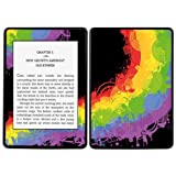 Diabloskinz Vinyl Adhesive Skin Decal Sticker for Amazon Kindle Paperwhite - Chaotic Rainbow