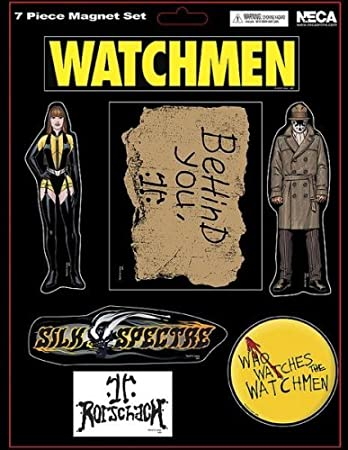 NECA Watchmen Movie Set of 7 Magnets Rorschach and Silk Spectre