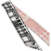 (コーチ)COACH 公式 ブラック アンド ホワイト パッチワーク ポニーテール スカーフ