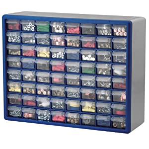 small parts storage boxes: 64 drawers
