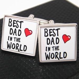 【Dandeon】愛するパパにプレートメッセージカフス(カフリンクス/カフスボタン)