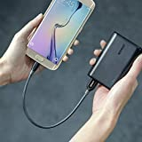 Anker Powerline+ Micro USB (1ft) The Premium Durable Cable [Double Braided Nylon] for Samsung, Nexus, LG, Motorola, Android Smartphones and More (Color: Gray, Tamaño: 1ft)