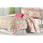 Katelyn Coral Teen Comforter Set Size: Twin