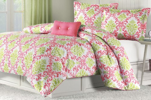 Damask Print Bedding 4874 back