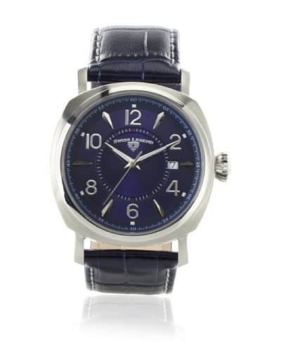 Swiss Legend Men's Executive Dark Blue/Blue Textured Leather Watch