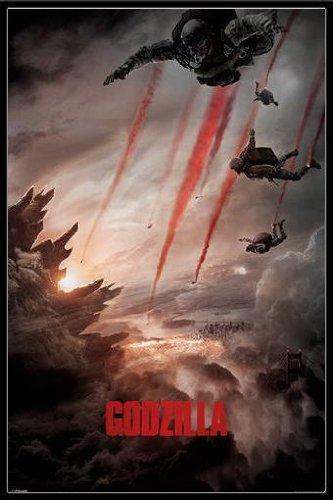 ゴジラ ポスターフレームセット Godzilla (Skydivers)