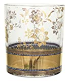 Patina Vie Metallic Lace Cocktail Glass, Gold, Set of 4