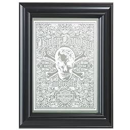 Harley-Davidson Live To Ride Skull Mirror