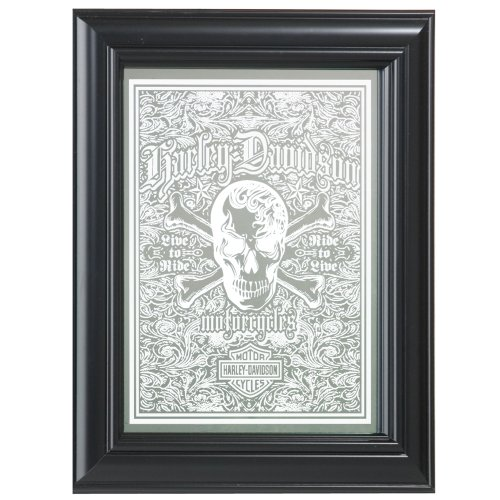 Harley-Davidson® Live To Ride Skull Mirror