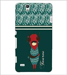 PrintDhaba Zodiac Taurus D-2745 Back Case Cover for SONY XPERIA C4 (Multi-Coloured)