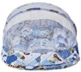 Amardeep Baby Mattress With Mosquito Net Collage Print BLUE XL