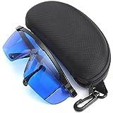 Protection des yeux Lunette Contre Faisceau Laser Lunettes de Sécurité (bleu)+ Boîte