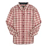 DKNY Boys 8-20 'Biking' Mini Plaid Roll Tab Long Sleeve Button Up Shirt M Red Reviews