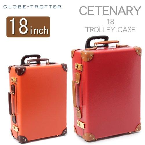 グローブ トロッター センテナリー トロリー ケース 18 inch GLOBE TROTTER CENTENARY Sサイズ 02.オレンジ×タン フリー [並行輸入品]