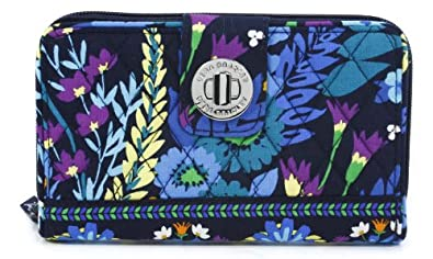 Vera Bradley Turn Lock Wallet in Midnight Blues