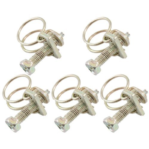 Water & Wood Steel Wire 6-12Mm Adjustable Range Water Oil Gas Hose Clamps 5 Pcs front-619987