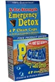 Emergency Detox P Clean Detox Capsules 1 Hour Herbal Detoxification Pills Test Kit (4 count)