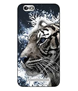 Case Cover Tiger Printed Blue Hard Back Cover For Lenovo Vibe C A2020