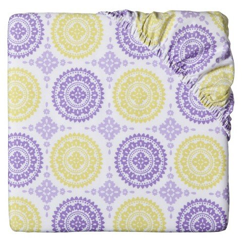 Circo Purple Medallion Fitted Crib Sheet
