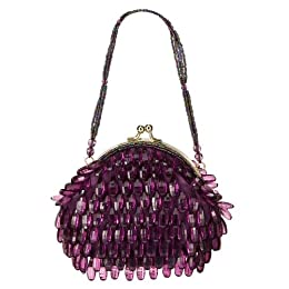 Product Image Merona® Beaded Frame Pouch Clutch - Plum