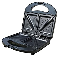 Mellerware ST01 750-Watt Sandwich Toaster (Black/SS)