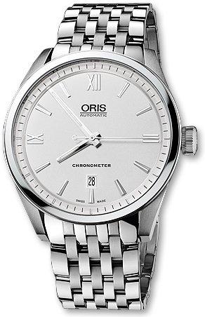 Oris Men's 73776424071MB Artix Silver Dial Watch