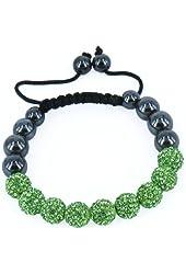 Shamballa Inspired 10mm Crystal Shining Beads Kids Children Bracelets Green Beads