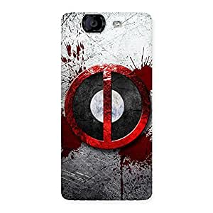 Impressive Bleed Dead Multicolor Back Case Cover for Canvas Knight A350