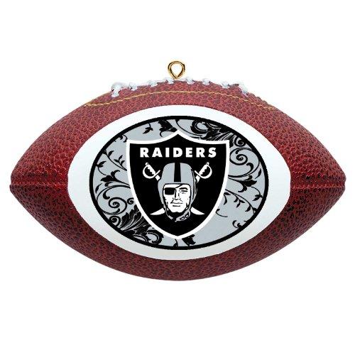 NFL Oakland Raiders Mini Replica Football Ornament